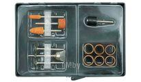 Комплект абразивных насадок для обработки металла, древесины и пластика Toya 25410