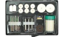 Комплект абразивных насадок для обработки металла, древесины и пластика Toya 25412