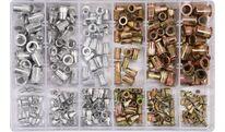 Заклепки резьбовые алюм.-сталь M3-М10 (набор 300шт.) YT-36480