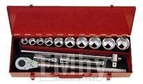 Набор инструментов 14пр. 22-50мм 6-гран.в металл.ящике 3/4 Force 6141-5