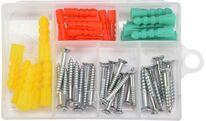 Шурупы с набором пластмассовых дюбелей (набор  52шт) Yato YT-36505