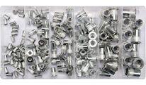 Заклепки резьбовые алюминиевые М3-M10 (набор 150шт.) YT-36460