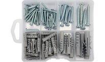 Шурупы с набором пластмассовых дюбелей (набор 104шт) Yato YT-36504