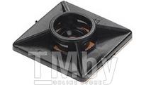 Площадка для хомута-стяжки 27х27 мм самоклеящаяся, черная (50 шт в пласт. конт.) STARFIX (SMP2-85228-50)