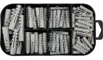 Шурупы с набором пластмассовых дюбелей (набор 170шт) Yato YT-36503