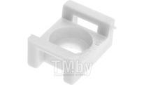 Площадка для хомута-стяжки 16х23 мм усиленная, белая (50 шт в пласт. конт.) STARFIX (SMP2-51310-50)