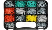 Шурупы с набором пластмассовых дюбелей (набор 350шт) Yato YT-36501