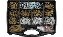 Шурупы с набором пластмассовых дюбелей (набор 620шт) Yato YT-36500