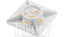 Площадка для хомута-стяжки 19х19 мм самоклеящаяся, белая (100 шт в пласт. конт.) STARFIX (SMP2-47751-100)