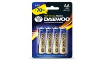 Батарейка AA LR6 1,5V alkaline BL-4шт DAEWOO HIGH ENERGY