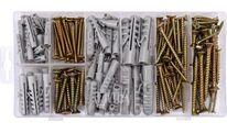 Шурупы с набором пластмассовых дюбелей (набор 206шт) Vorel 24113