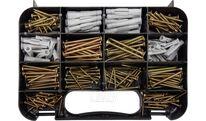 Шурупы с набором пластмассовых дюбелей (набор 260шт) Vorel 24110