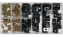 Саморезы и клипсы (набор 170шт) Yato YT-06780