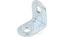 Кронштейн мебельный 22х22 мм, белый цинк STARFIX