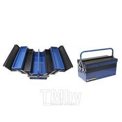 Ящик инструментальный складной, 5 отделений (415х235х200мм-габариты, 410х95х45мм-4полки, 410х200х100-1полка) Forsage F-1141711