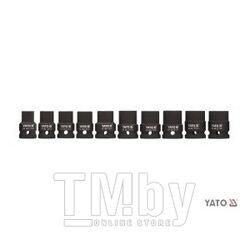 "Набор головок ударных 1/2"" 10-22мм L39мм СrMo (10шт) Yato YT-1025"