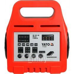 Электронное зарядное устройство (6/12V; 8A; 5-200Ah) Yato YT-8301