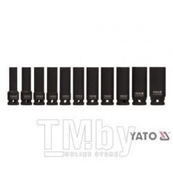 "Набор головок ударных 1/2"" 10-24мм L78мм СrMo (11шт) Yato YT-1054"