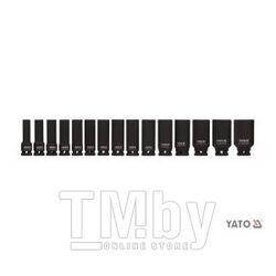 "Набор головок ударных 1/2"" 10-32мм L78мм СrMo (15шт) Yato YT-1055"