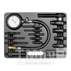 Набор для измерения компрессии диз. двигат. (16пр) Yato YT-7307