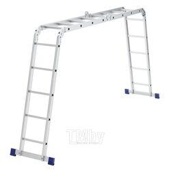 Лестница шарнирная алюминиевая, 2х4+2х5 Сибртех 97884