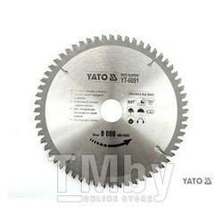 Диск пильный по алюминию 210х30х72T Yato YT-6093