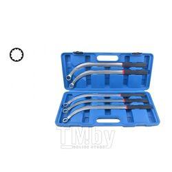 Набор ключей накидных удлиненных изогнутых(L-470мм; 13,15, 16, 17, 19мм) 5пр., в кейсе Rock FORCE RF-50511
