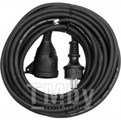 Удлинитель электрический 10м 1 розетка c резиновой изоляцией IP44 (16A, 230V-50Hz, кабель H05RR-F 3х1.5мм. кв.) Yato YT-81021