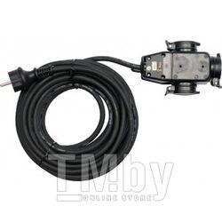 Удлинитель электрический 10м 3 розетки c резиновой изоляцией IP44 (16A, 230V-50Hz, кабель H07RN-F 3х1.5мм. кв.) Yato YT-8116