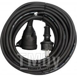 Удлинитель электрический 20м 1 розетка c резиновой изоляцией IP44 (16A, 230V-50Hz, кабель H05RR-F 3х1.5мм. кв.) Yato YT-81022