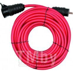 Удлинитель электрический 20м 1 розетка c резиновой изоляцией IP44 (16A, 230V-50Hz, кабель H05RR-F 3х2.5мм. кв.) Yato YT-8100