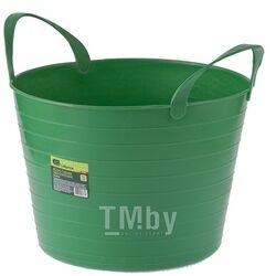 Ведро гибкое сверхпрочное 14л, зеленое СИБРТЕХ 67501