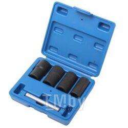 Набор головок для поврежденных болтов и гаек 5пр.(17, 19, 21, 22мм), в кейсе Rock FORCE RF-906U2