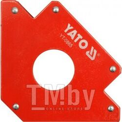 Струбцина магнитная для сварки 122х190х25мм с отверстием d46мм (34кг.) Yato YT-0865