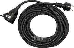 Удлинитель электрический 5м 1 розетка c резиновой изоляцией IP44 (16A, 230V-50Hz, кабель H07RN-F 3х1.5мм. кв.) Yato YT-8111