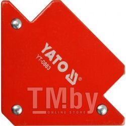 Струбцина магнитная для сварки 82х120х13мм (11,5кг.) Yato YT-0863