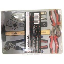 Набор шарнирно-губцевого инструмента,7пр(молоток-300гр;гейфер. захват,ключ разв-ой,пассатижи пер-ные-250мм;плоскогубцы,бокорезы,утконосы-160мм)в лотке Forsage F-T50715