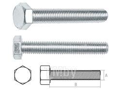 Болт М8х35 мм шестигр., цинк, кл.пр. 5.8, РМЗ (25 кг упак) (STARFIX)