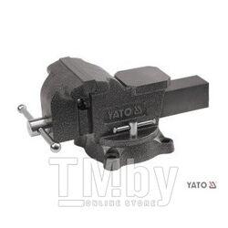 Тиски слесарные 7кг 100мм пов. 360гр. Yato YT-6501