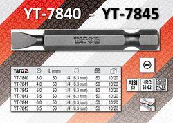 """Бита 4,0мм 1/4""""х50мм (50шт) S2 HRC58-62 Yato YT-7841"""