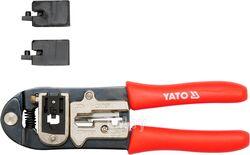 Пресс-клещи 195мм 2-х функц. (CAT.5; RJ11, 12, 22, 45) HRC42-48 Yato YT-2244