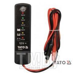 Тестер аккумуляторов индикаторный 12V Yato YT-83101