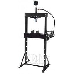 Пресс гидравлический с манометром напольный 12т, ручной/ножной привод (раб. высота: 0-900мм, раб. ширина: 475мм, раб. стол:180х475мм, ход штока:135мм) Rock FORCE RF12002