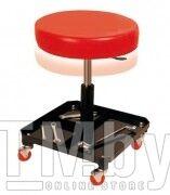 Стул автослесаря вращающийся регулируемый на колесах (h min-410мм, h max-530мм, диаметр-365мм) Forsage F-TR6201