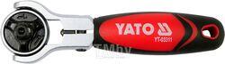 """Трещотка для бит и головок шарнирная 1/4"""" Т72 L115мм Yato YT-03311"""