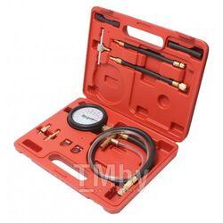 Тестер давления топлива в комплекте с адаптерами переходниками 10пр.(0-7Bar), в кейсе Forsage F-04A3022