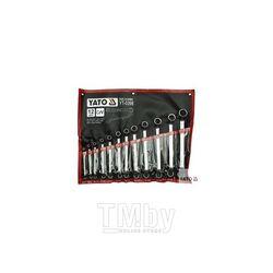 Набор накидных ключей изог. 6-32мм (12шт) CrV Yato YT-0398
