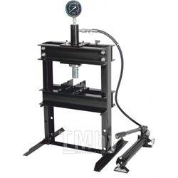Пресс настольный гидравлический с манометром и выносным насосом 12т (раб. высота: 0-340мм, раб. ширина: 400мм, раб. стол: 185х400мм, ход штока: 135мм) Rock FORCE RF12001