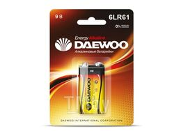 Батарейка 6LR61 9V alkaline BL-1шт DAEWOO ENERGY