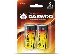 Батарейка C LR14 1,5V alkaline BL-2шт DAEWOO ENERGY